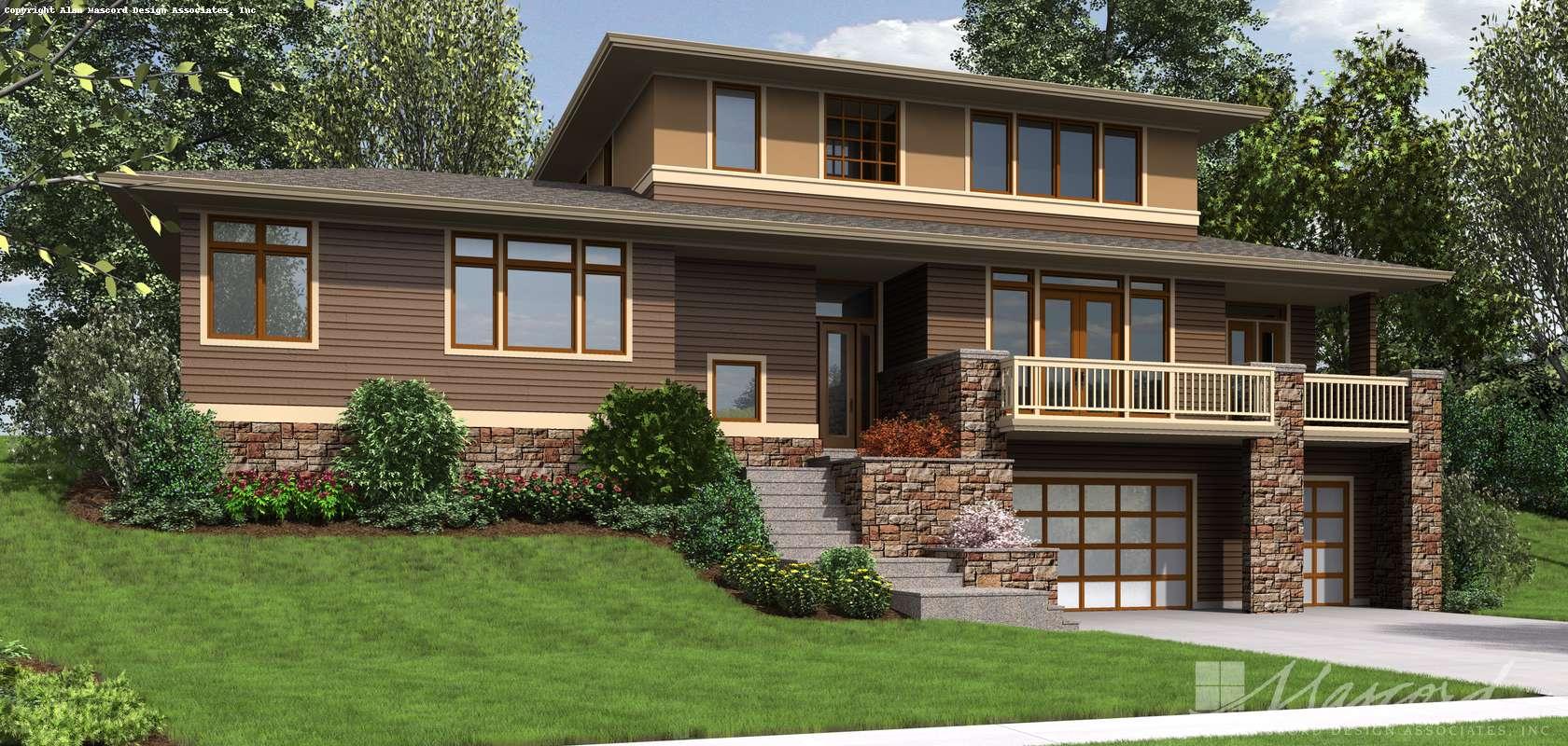 Mascord House Plan 22197A: The Burbank