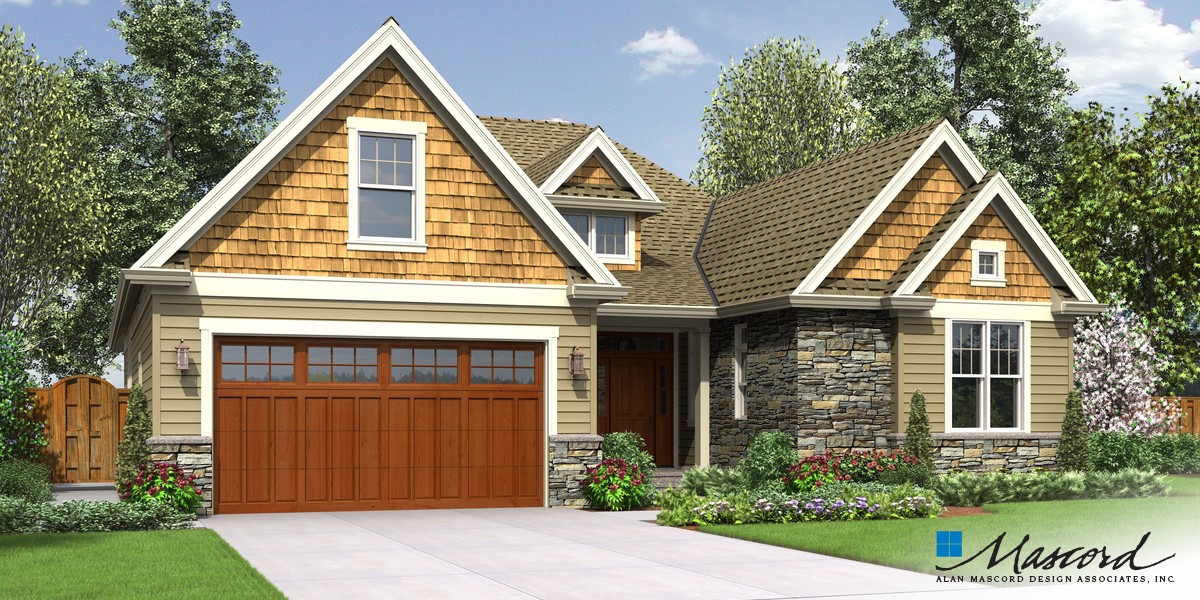 Mascord house plan 22198 the cotswolder for Extended family house plans