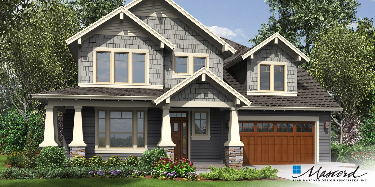 Image for Hood River-Amenity Rich NW Craftsman Plan with Small Footprint and Huge Personality-Front Rendering