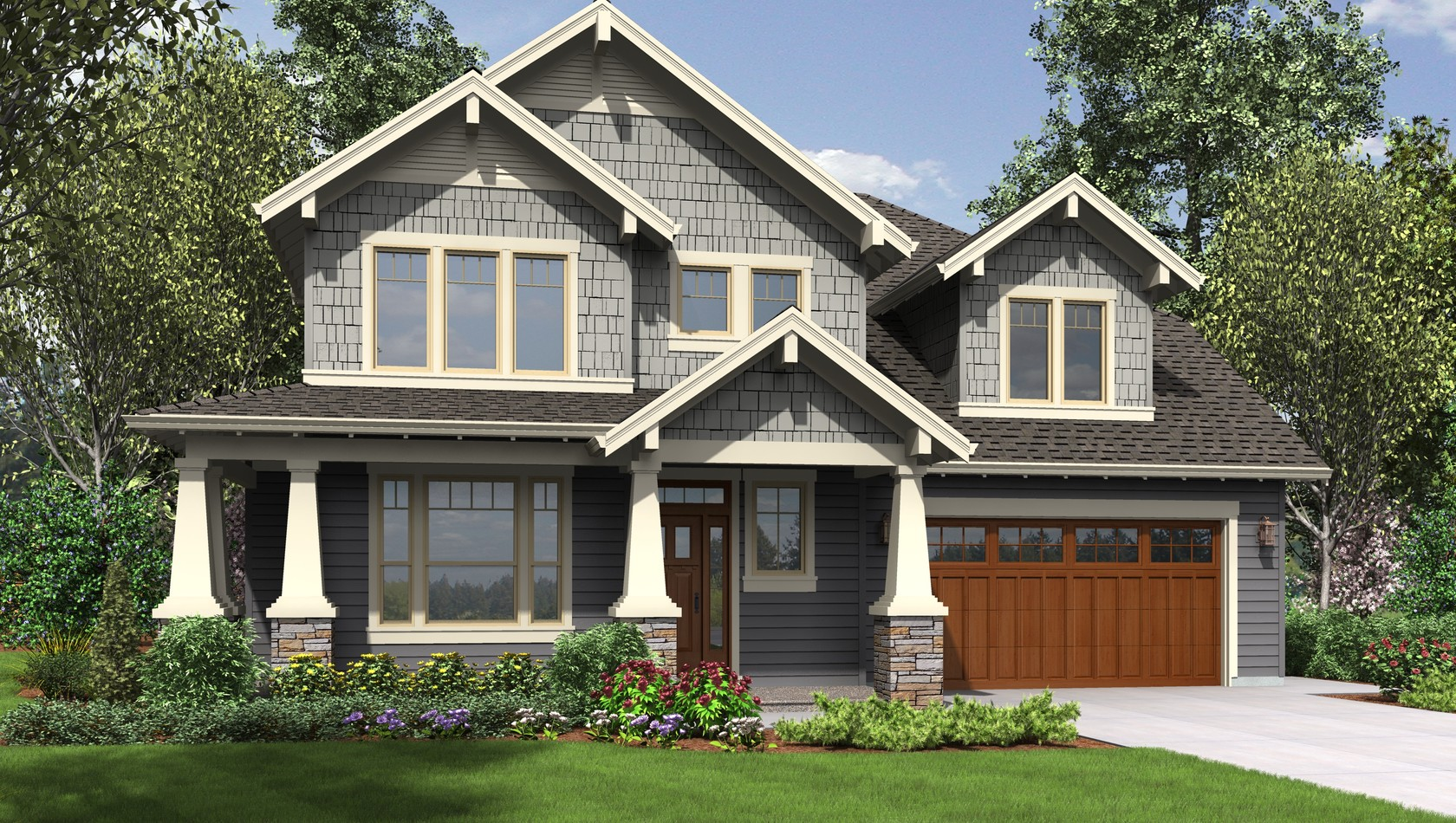 Main image for house plan 22199: The Hood River