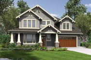 Front Rendering of Mascord House Plan 22199 - The Hood River