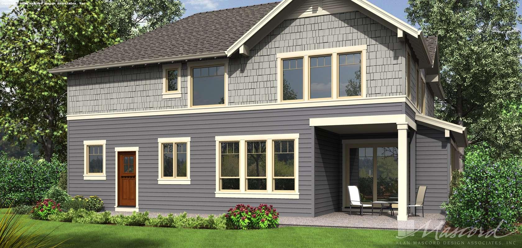 Mascord House Plan 22199: The Hood River