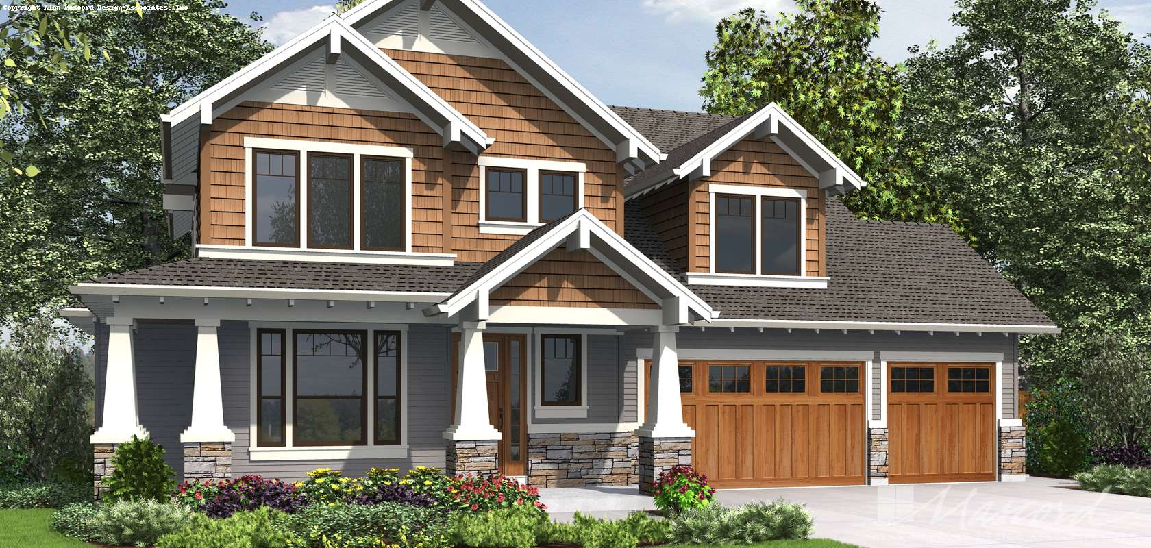 Mascord House Plan 22199A: The Jefferson