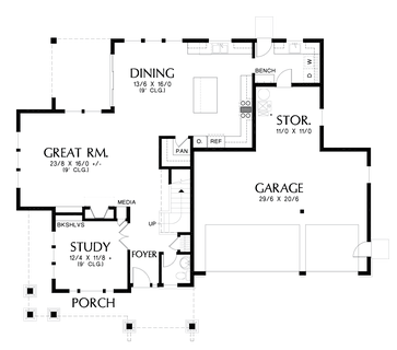 Image for Jefferson-Incorporates many changes requested for the 'Hood River'-Main Floor Plan