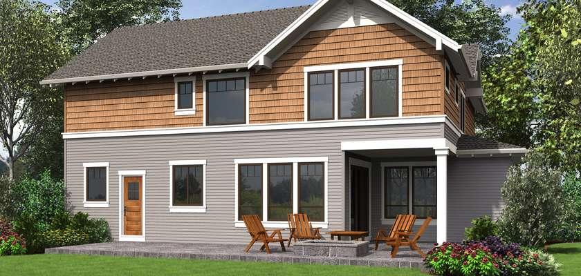 Mascord House Plan 22199A: The Jefferson