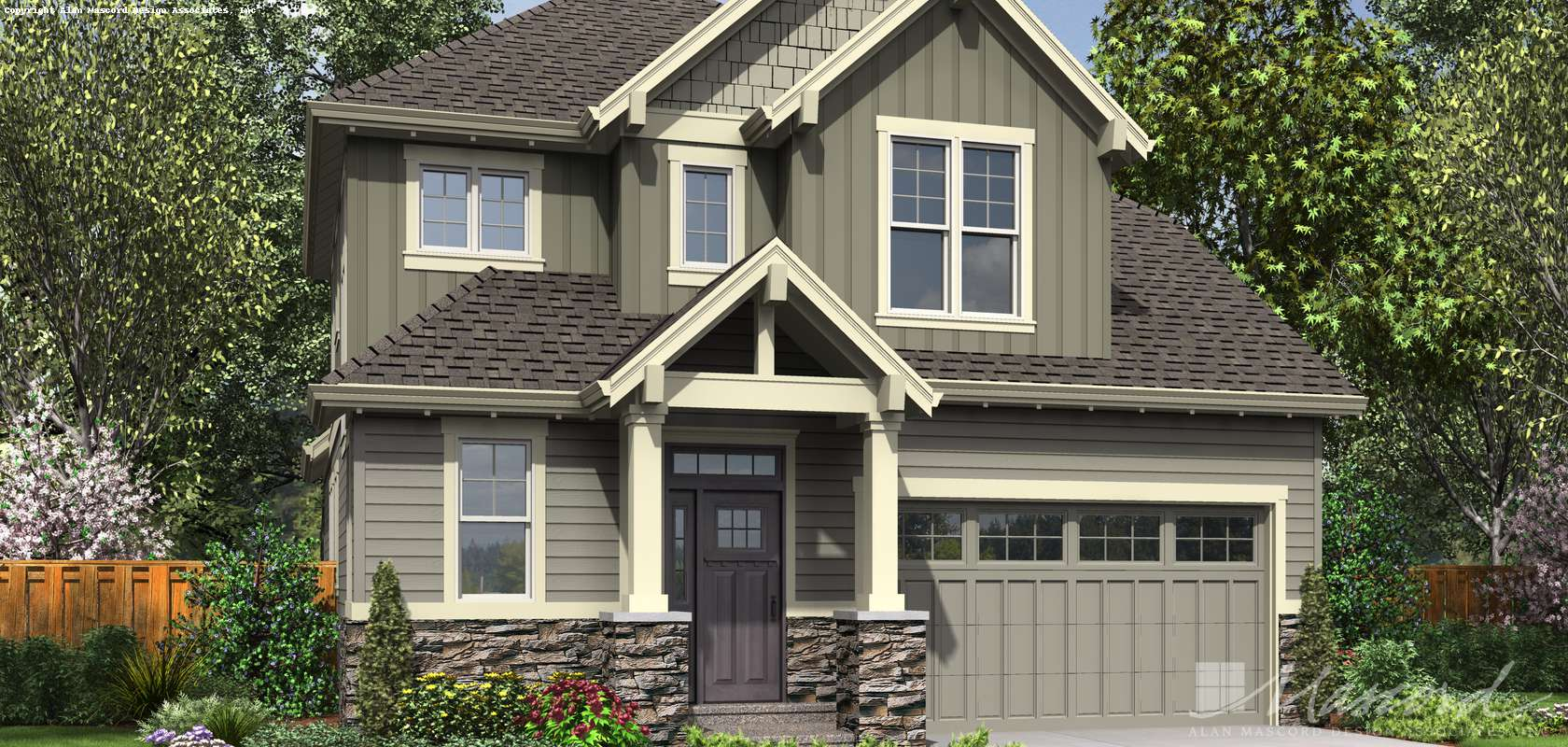 Mascord House Plan 22200B: The Willowcreek