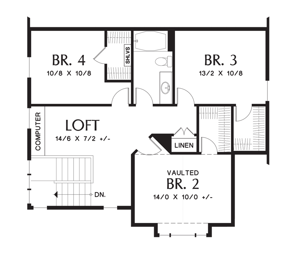 Craftsman House Plan 22200a The Yaquina 2158 Sqft 4