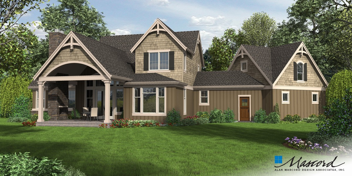 Image for Hartford-Traditionally Styled Home Complete with Studio-Rear Rendering