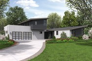 Front Rendering of Mascord House Plan 22207 - The Albright