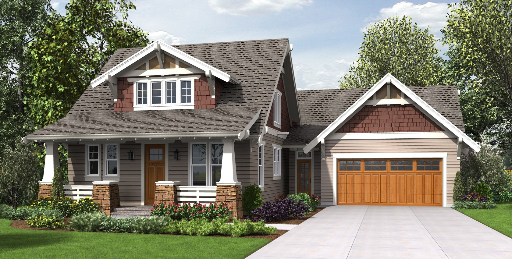Image for Davidson-Traditional Craftsman Home with Modern Design-8353