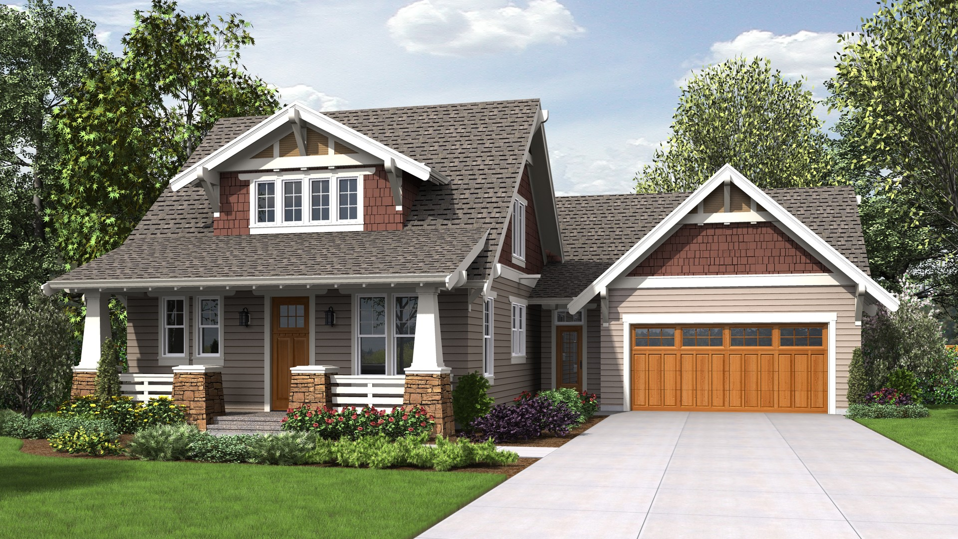 Cottage house plan 22208 the davidson 2292 sqft 3 beds - What is a bungalow style home ...