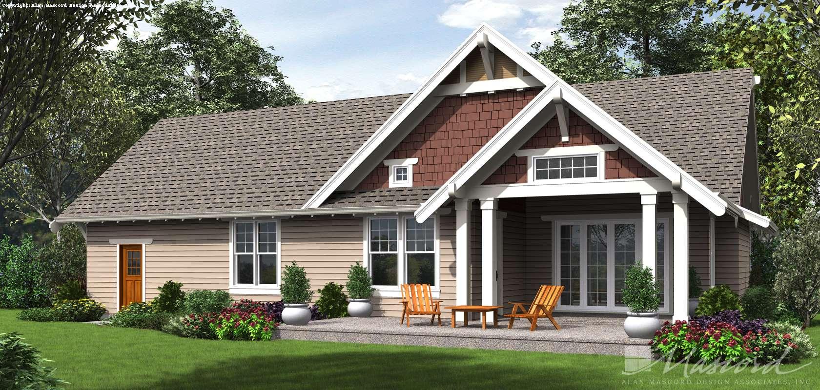 Mascord House Plan 22208: The Davidson