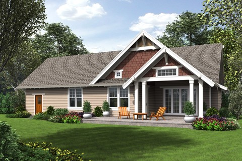 Image for Davidson-Traditional Craftsman Home with Modern Design-8354