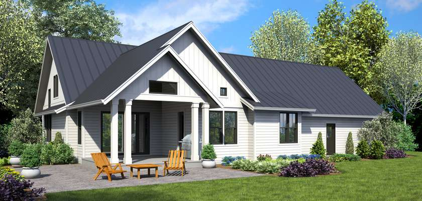 Mascord House Plan 22208A: The Bennet