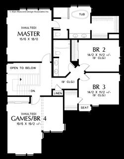 Image for Golden-Sophisticated Look Outside, Smart Design Inside-Upper Floor Plan