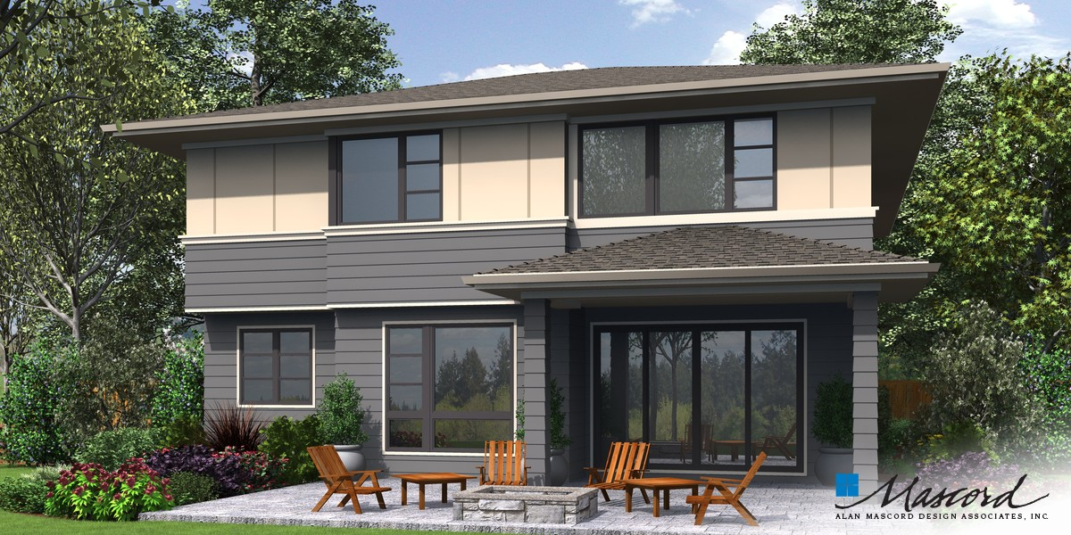 Image for Robertson-Beautiful Contemporary Suited to Narrow Lots -Rear Rendering