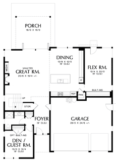 Image for Sweetwater-Artful Home with Flexible Spaces-Main Floor Plan