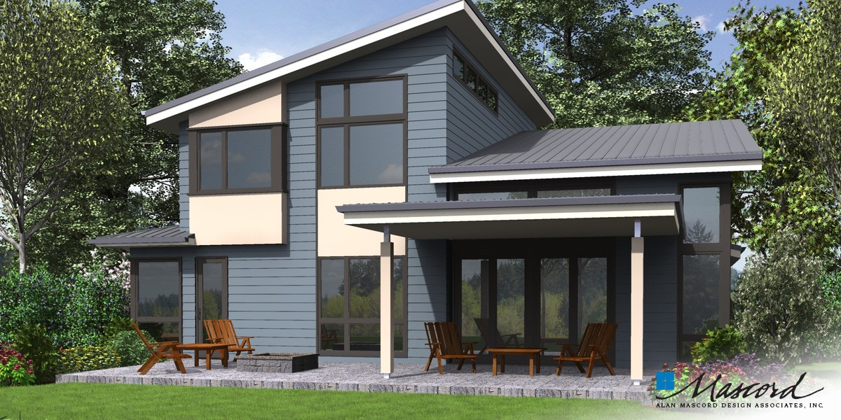 Image for Sweetwater-Artful Home with Flexible Spaces-Rear Rendering
