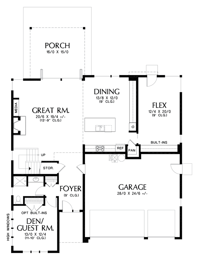 Image for Carroll-Contemporary Home for a Growing Family-Main Floor Plan