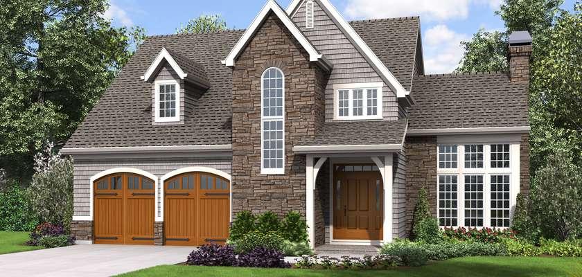 Mascord House Plan 22211: The Oakshire