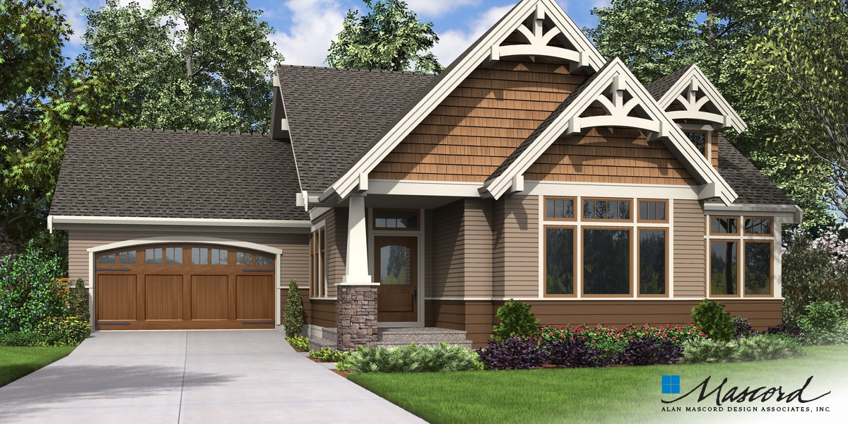 Image for Selma-Comfortable Craftsman Home for Big Families-Front Rendering