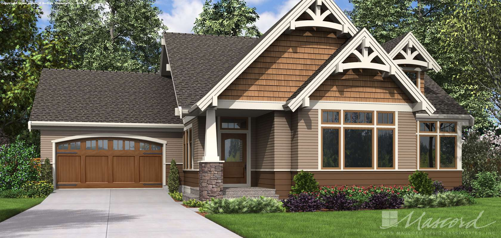 Mascord House Plan 22212: The Selma