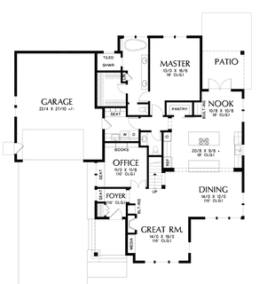 Image for Selma-Comfortable Craftsman Home for Big Families-Main Floor Plan