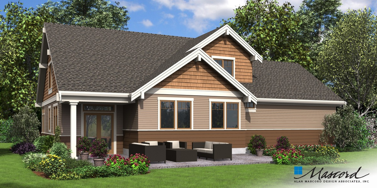 Image for Selma-Comfortable Craftsman Home for Big Families-Rear Rendering
