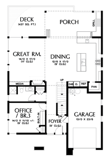 Image for Renard-Home fit for a Captain!  Design featured on hit TV show Grimm-Main Floor Plan