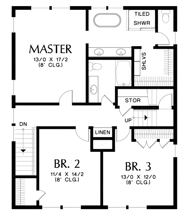 Image for Waverly-Foursquare Family Home with Flexible Spaces-Upper Floor Plan