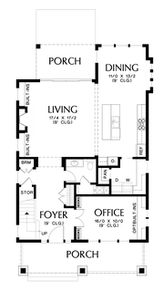 Image for Waverly-Foursquare Family Home with Flexible Spaces-Main Floor Plan