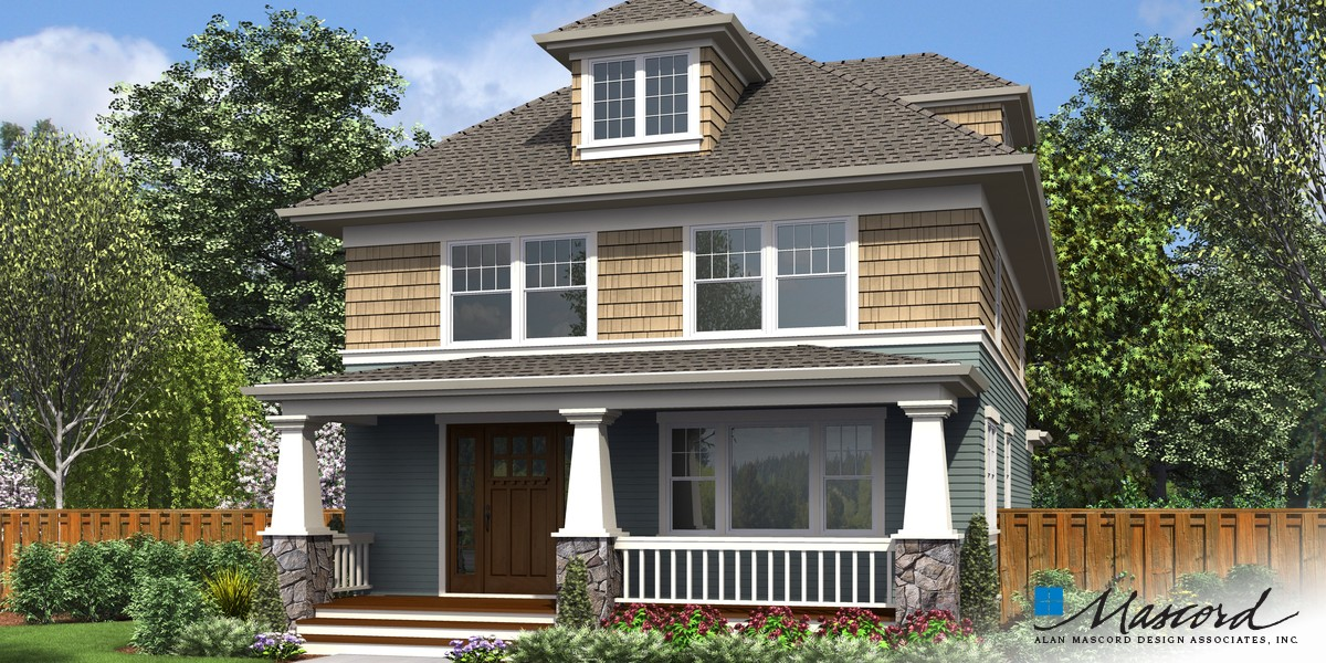 Image for Waverly-Foursquare Family Home with Flexible Spaces-Front Rendering