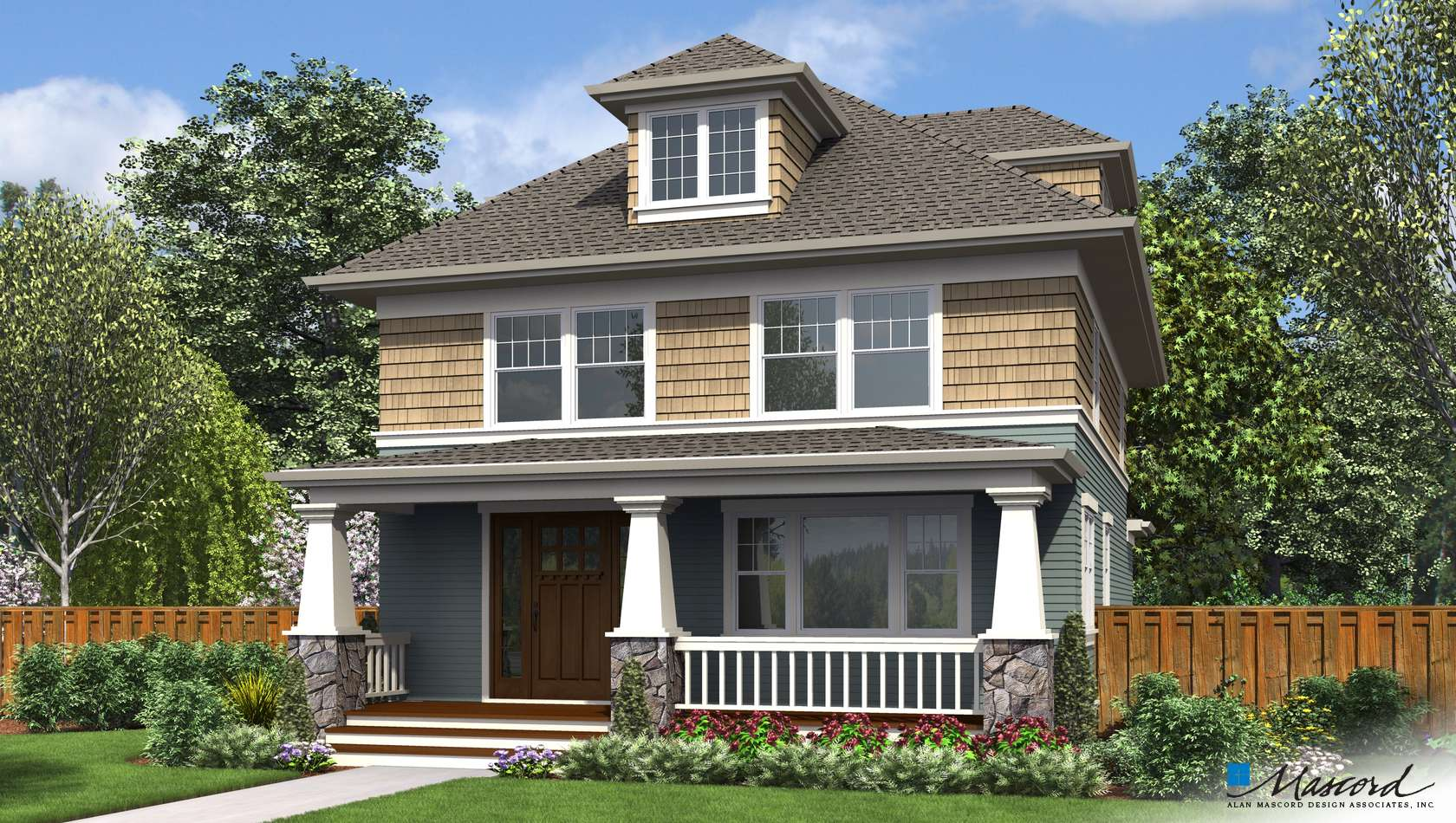 Main image for house plan 22214: The Waverly