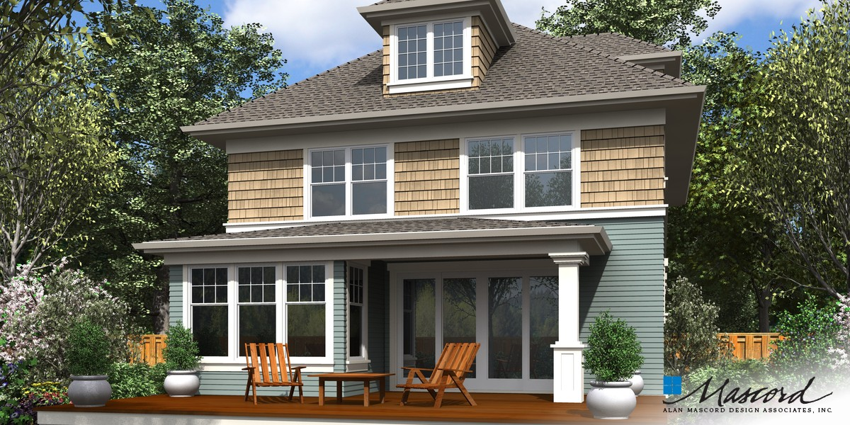 Image for Waverly-Foursquare Family Home with Flexible Spaces-Rear Rendering