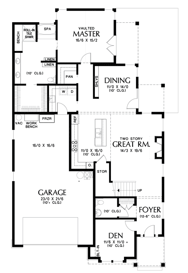 Image for Sinise-Great design for family members with differing physical abilities-Main Floor Plan