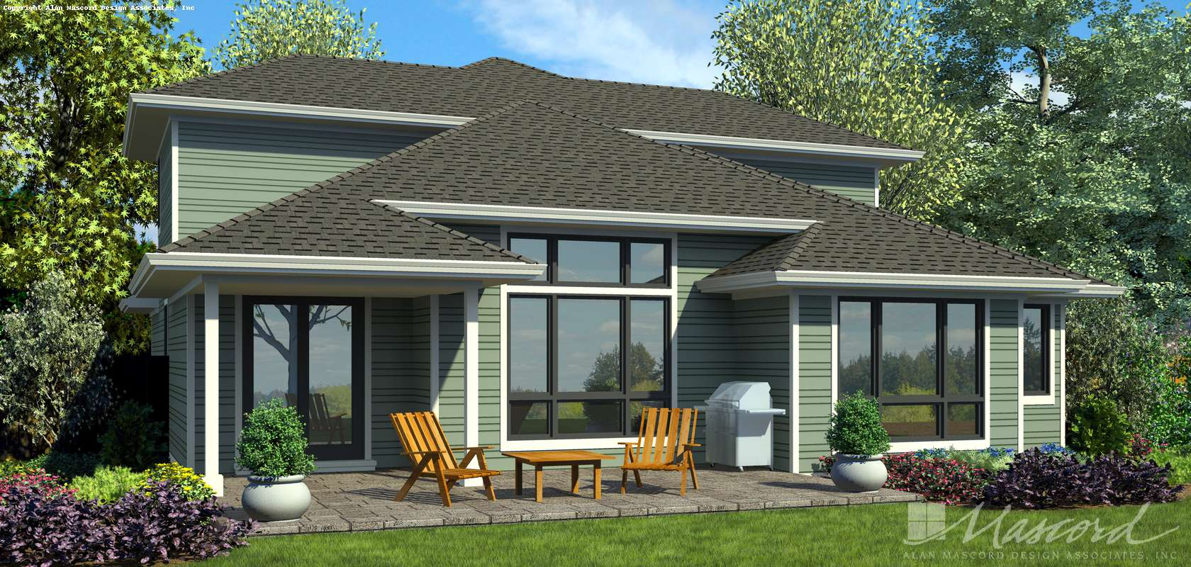 Mascord House Plan 22218: The Easley