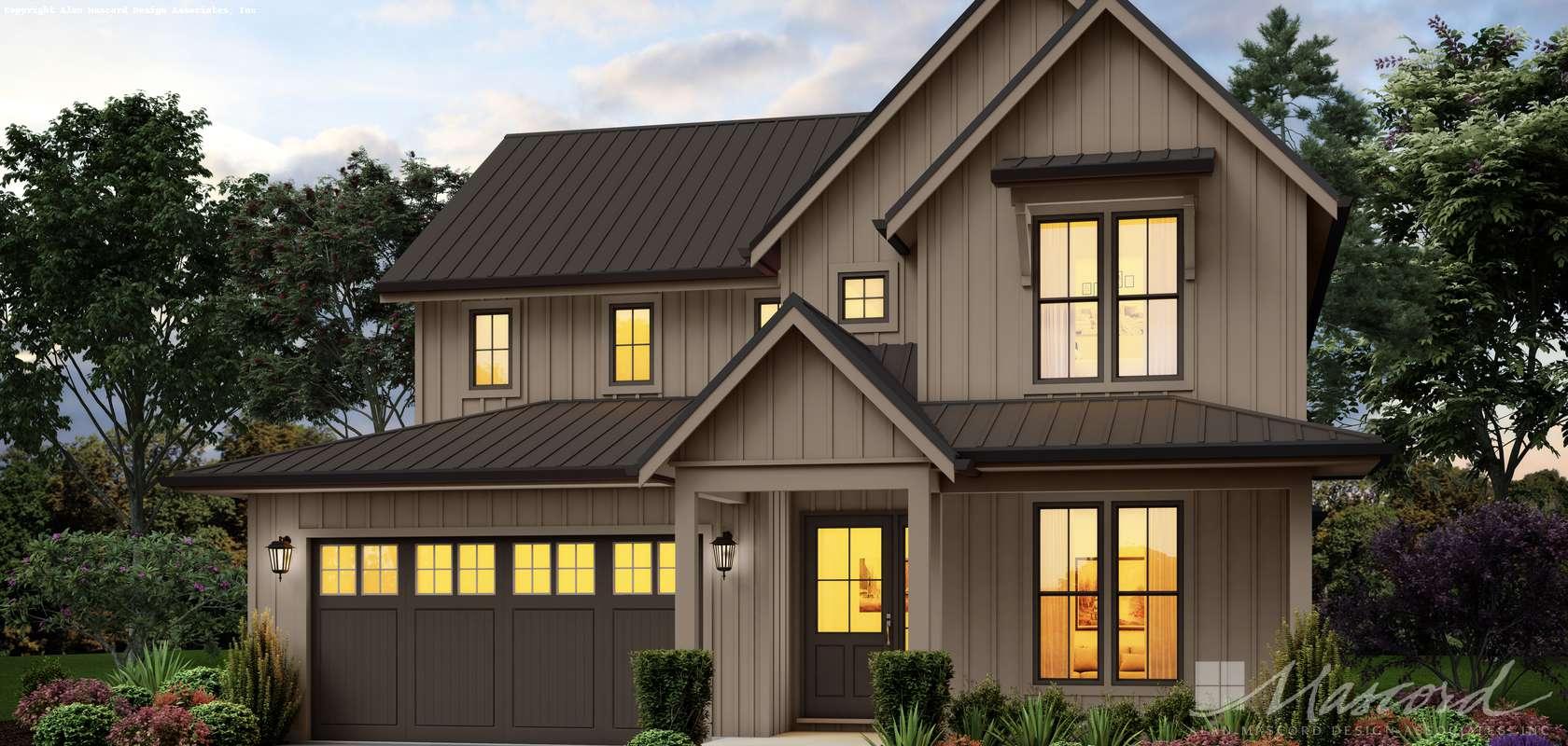 Mascord House Plan 22222: The Lone Pine
