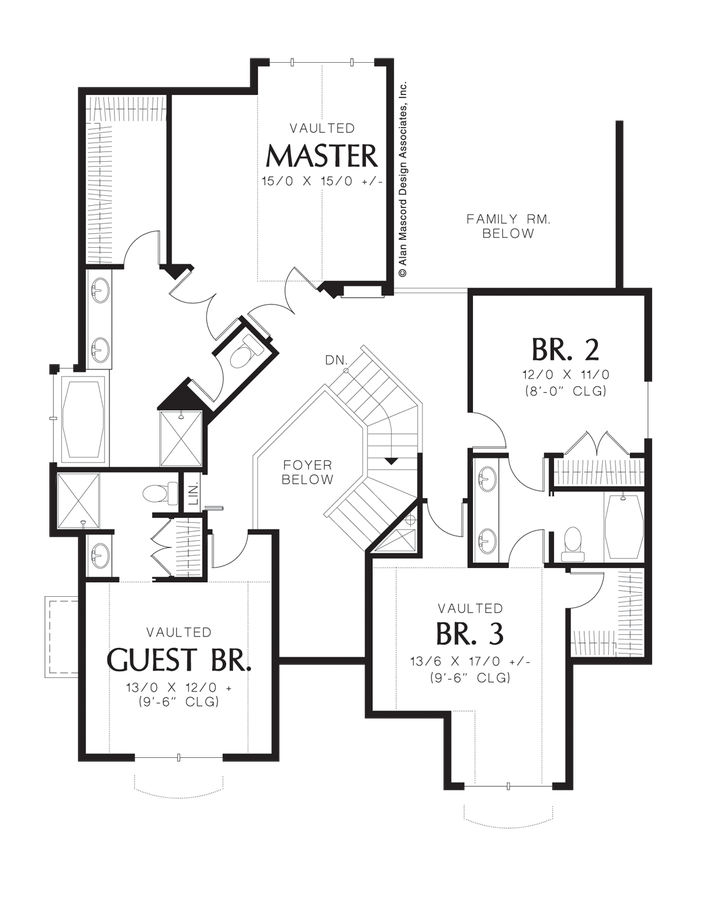 Craftsman house plan 2223ad the sabine 2820 sqft 4 for House plans with guest suite