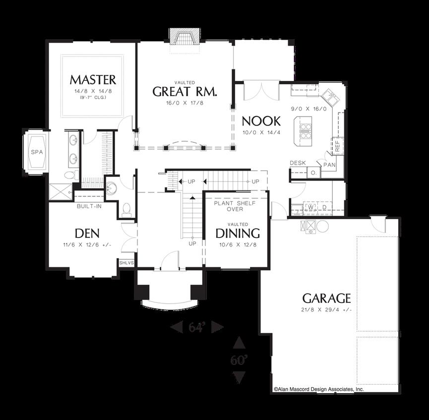 house plan 2227b the kaplan On kaplan floor plan