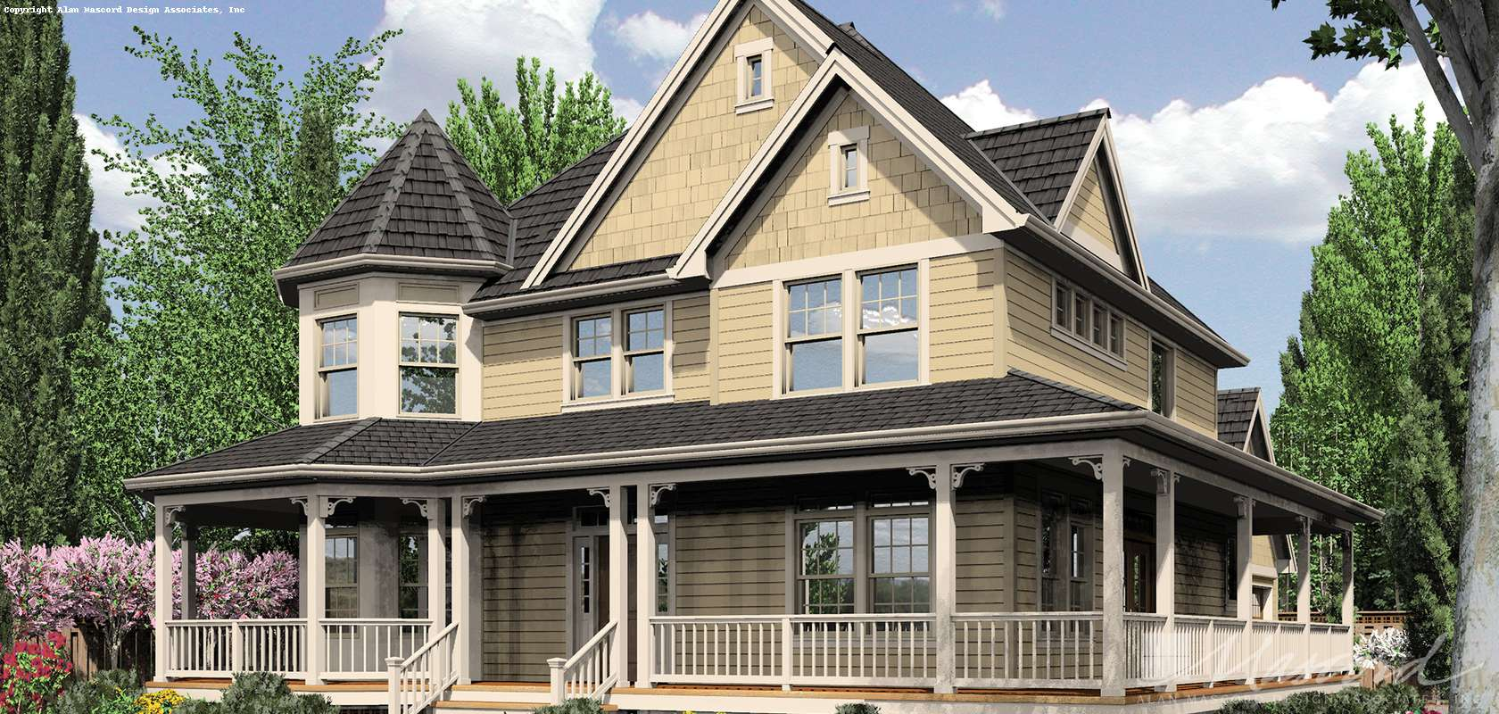 Mascord House Plan B2229A: The Stratford