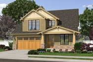 Front Rendering of Mascord House Plan 2230CD - The Olympia