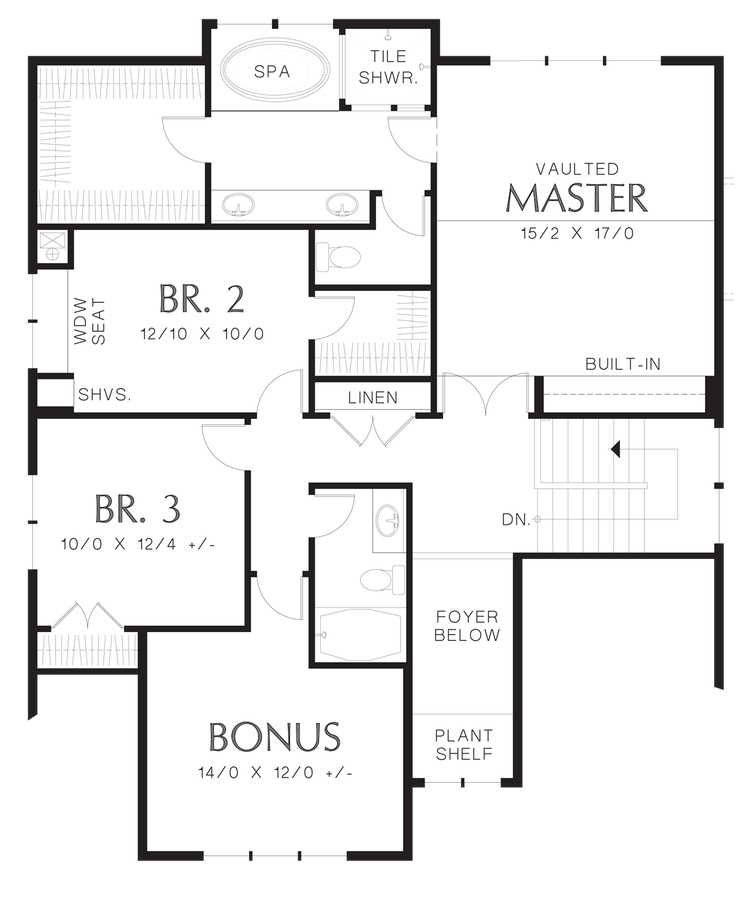 Mascord house plan 2230cd the olympia for 150 square meters house floor plan