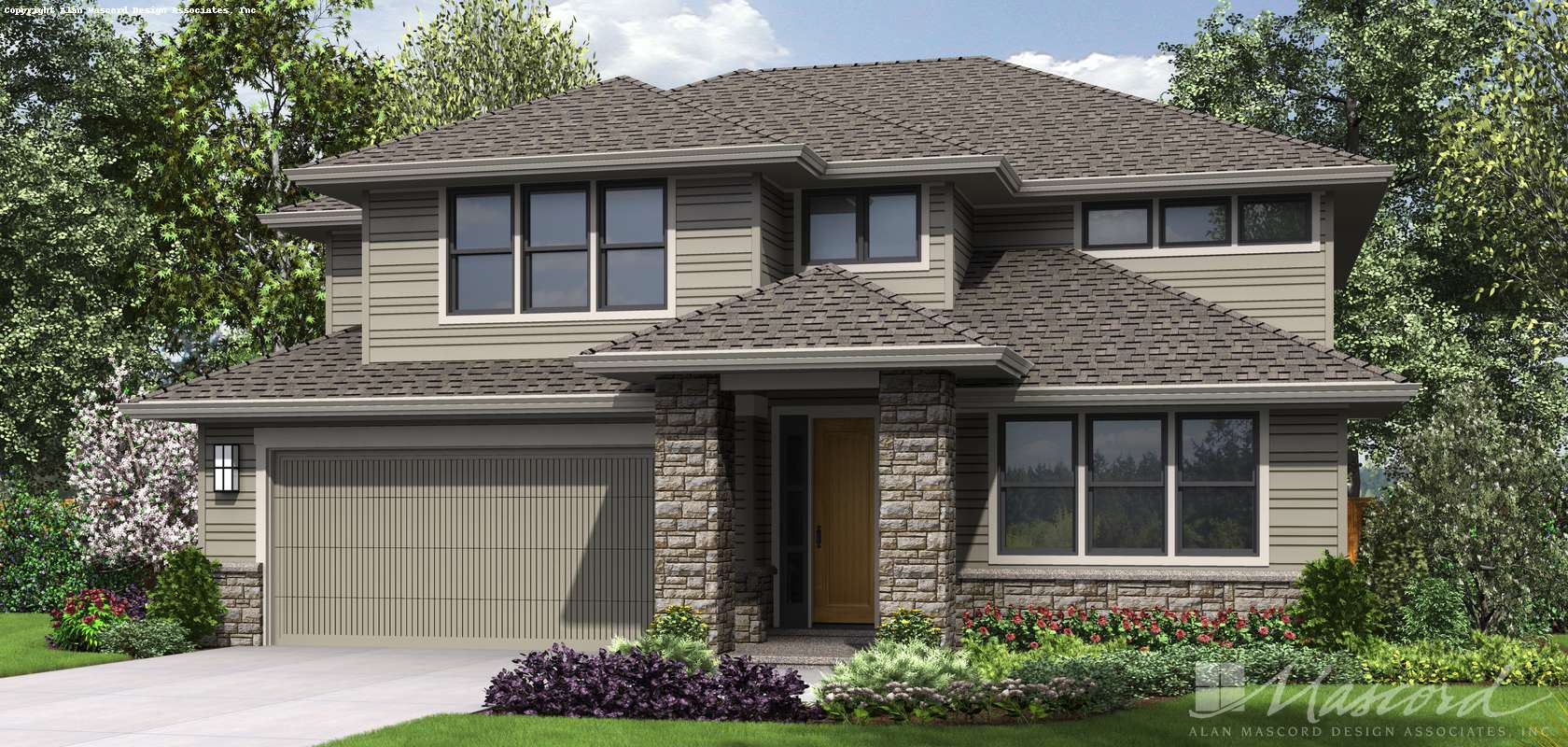 Mascord House Plan 2230CG: The Gardena