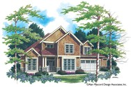 Front Rendering of Mascord House Plan 2234B - The Roseland