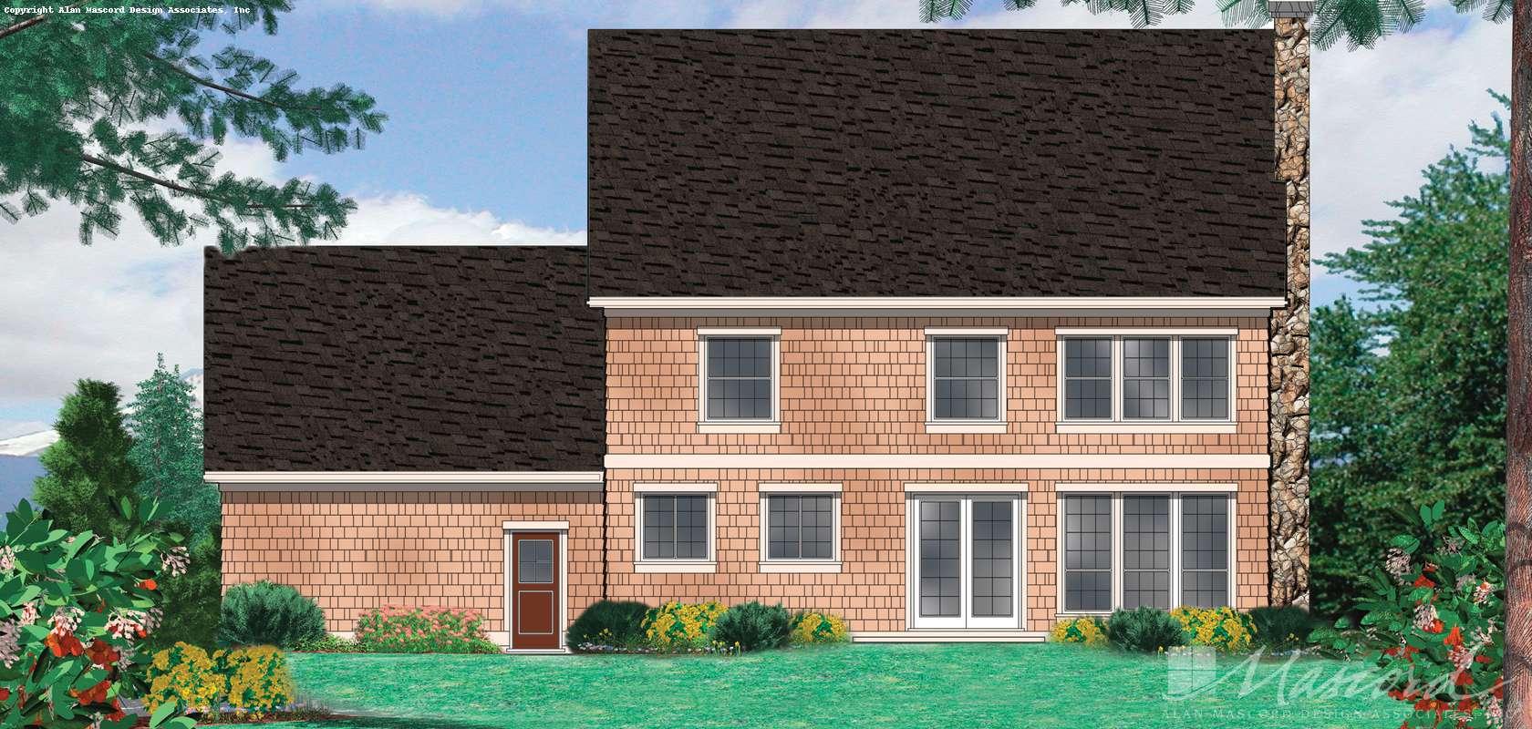 Mascord House Plan 2261H: The Camden