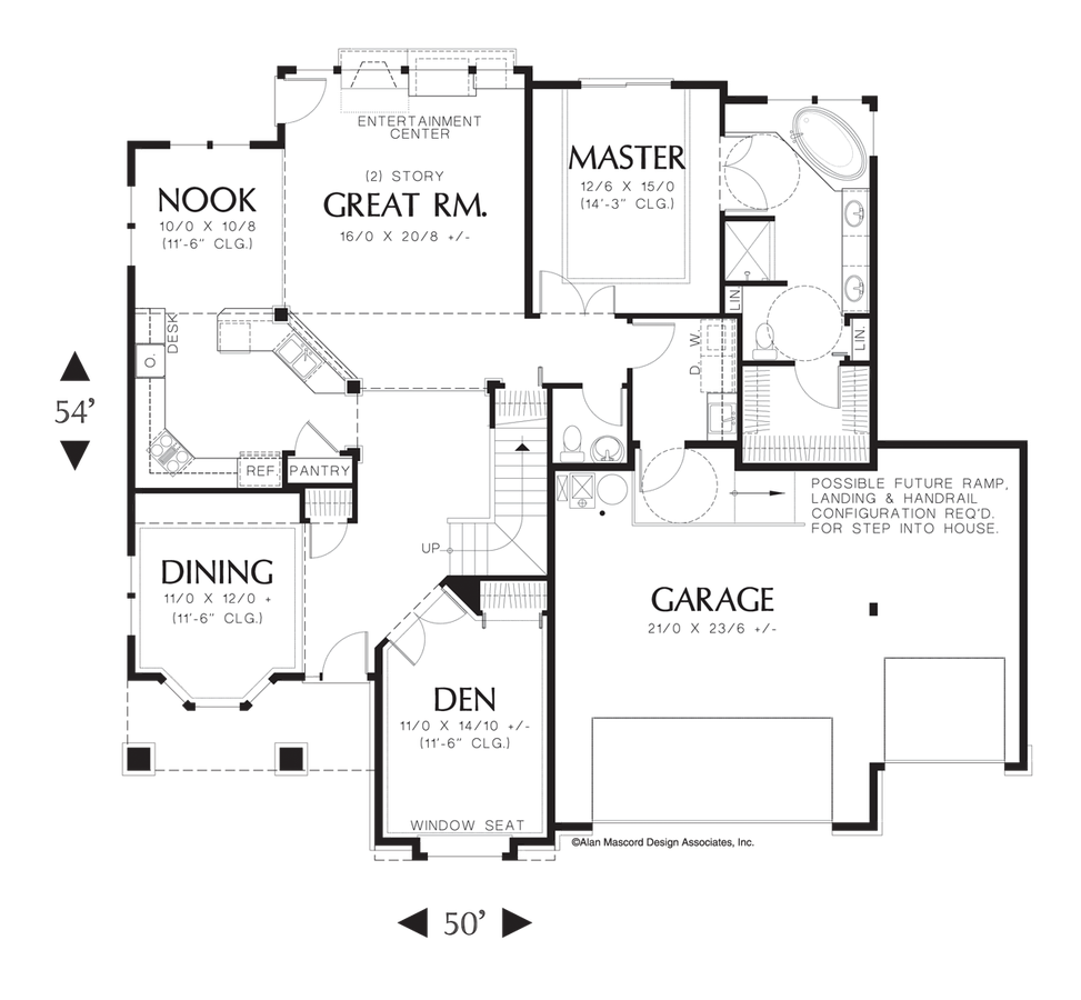 Mascord House Plan 2269bu The Carville