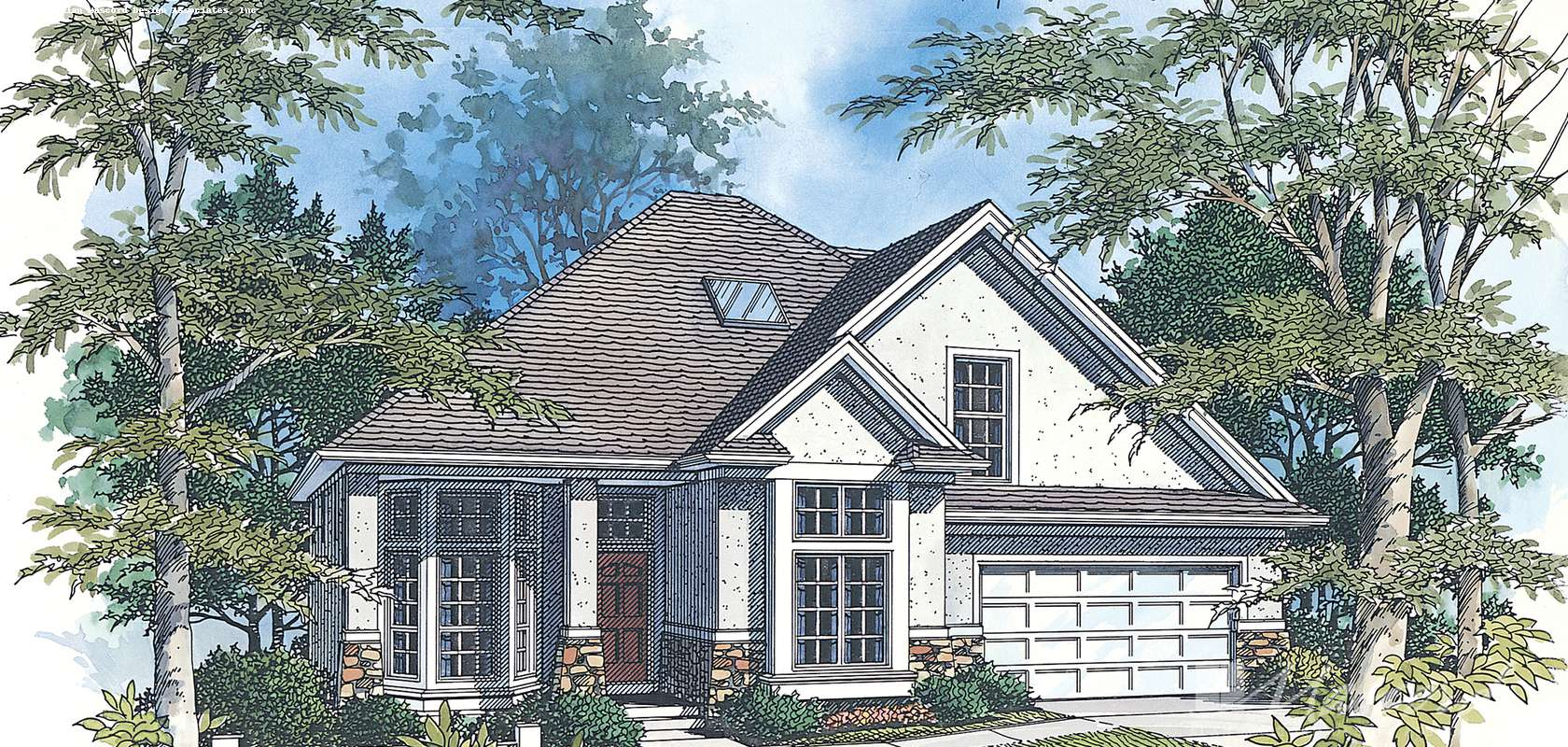 Mascord House Plan 2269BU: The Carville