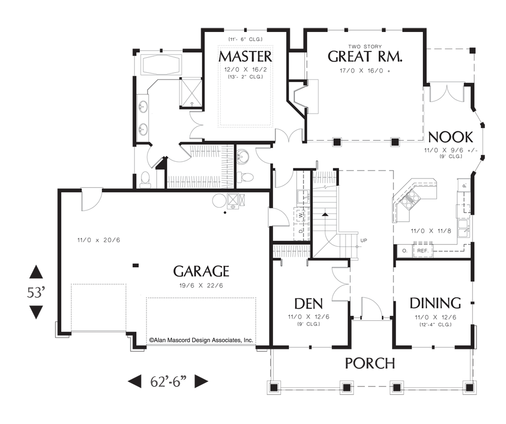 Mascord House Plan 1334 House Plans Floor Plans And