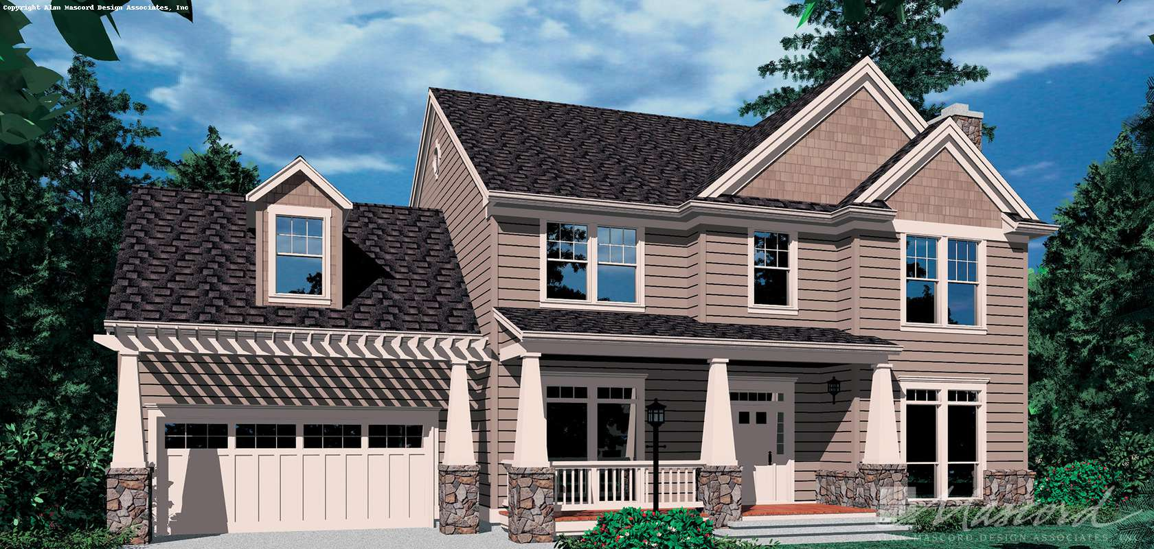 Mascord House Plan B2271AB: The Campton