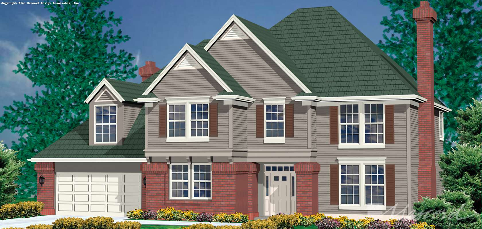 Mascord House Plan 2278: The Bienville